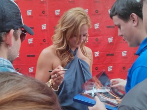 Zoe Bell and fans at the Florida Film Festival. Photo by: Tanya Hanson