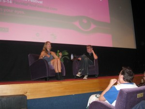 Zoe Bell during her Q&A at the 22nd Annual Florida Film Festival Photo by Sandra Carr