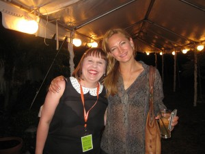 Zoe Bell and Sandra Carr at the Florida Film Festival on April 12, 2013 Photo by: Dan Carr
