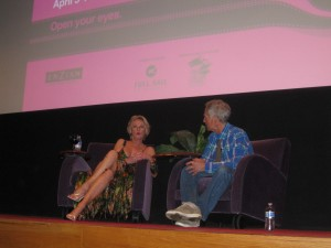 Tippi Hedren during her Q&A at the 22nd Annual Florida Film Festival Photo by Sandra Carr