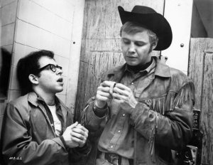 Bob Balaban and Jon Voight in a scene in Midnight Cowboy.