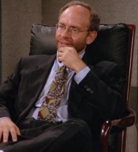 Bob Balaban portraying Russell Dalrymple, the President of NBC on Seinfeld.