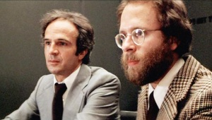 Bob Balaban and François Truffaut in Close Encounters of the Third Kind.