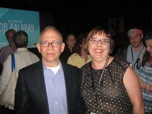 Sandra Carr and Bob Balaban at the 24th Annual Florida Film Festival. Photo by: Dan Carr