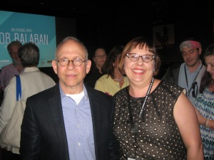 Sandra Carr and Bob Balaban at the 24th Annual Florida Film Festival. Photo by: Dan Carr