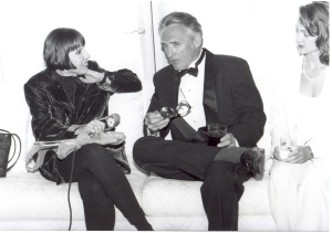 I'm interviewing actor Dennis Hopper for WCPX Channel 6 during the Florida Film Festival in June 1994. Photo by: Jim Leatherman