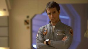 "Actor Sam Rockwell portrays Sam Bell in ""Moon.""  Image courtesy: Florida Film Festival"