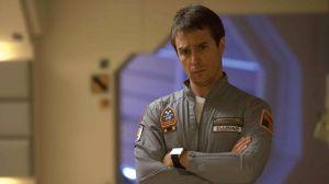 "Actor Sam Rockwell portrays Sam Bell in ""Moon.""  Image courtesy: Florida Film Festival"