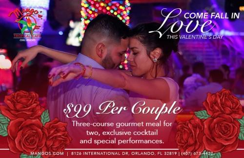 Mango's Tropical Cafe Orlando Valentine's Day February 14 2018