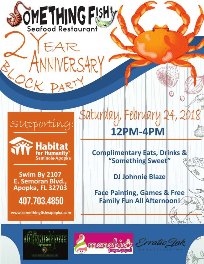 Something Fishy Two-Year Anniversary Block Party February 24 2018