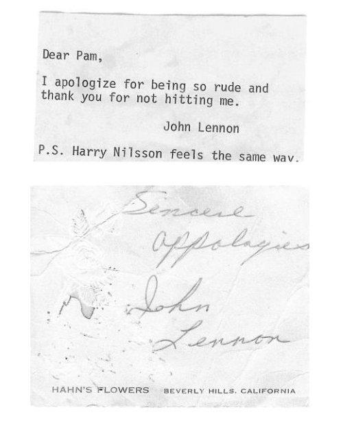 John Lennon Note