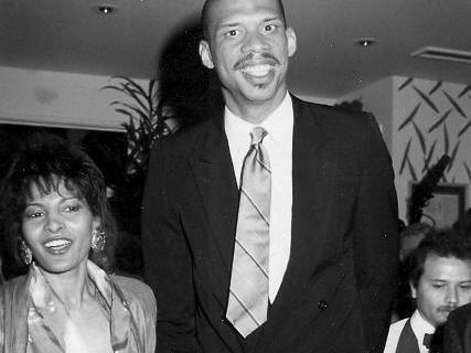 Pam Grier and Kareem Abdul-Jabbar