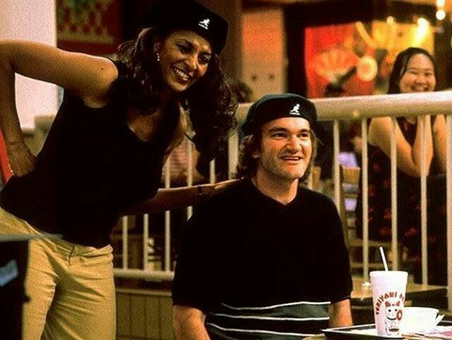Pam Grier and Quentin Tarantino