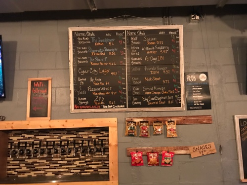 Toll Road Brewing Company Beer Board
