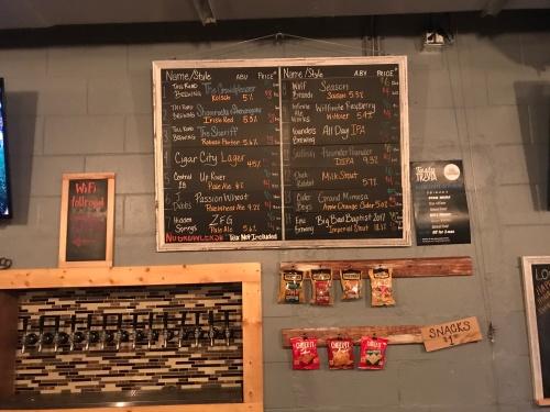 Toll Road Brewing Company Beer Board