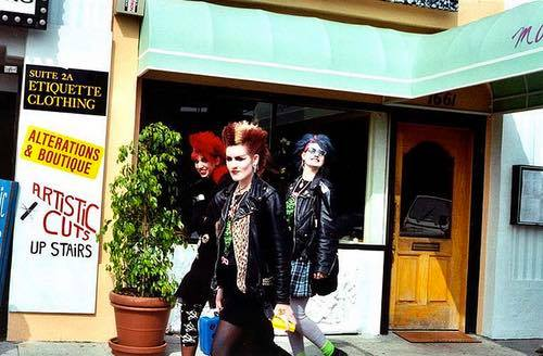Punk Rockers on Melrose Avenue