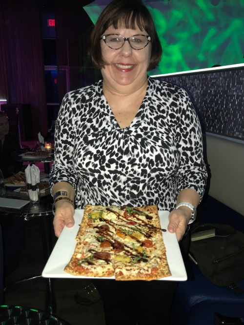 Sandra and Caprese Flatbread